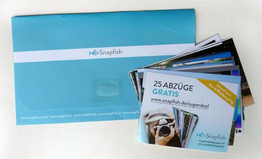 Snapfish Fotos und Tasche