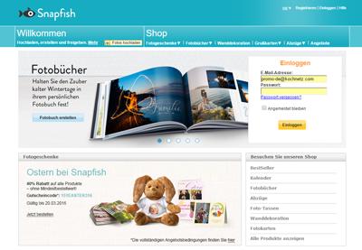 Snapfish Webseite Testbericht